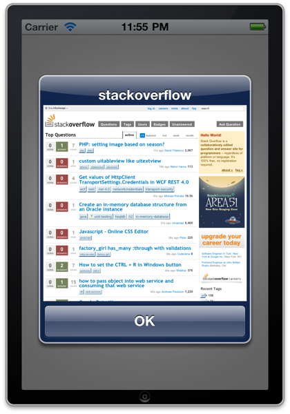 StackOverflow in a UIAlertView